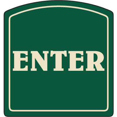 Designer Property Signs - Enter