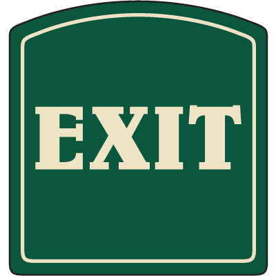 Designer Property Signs - Exit