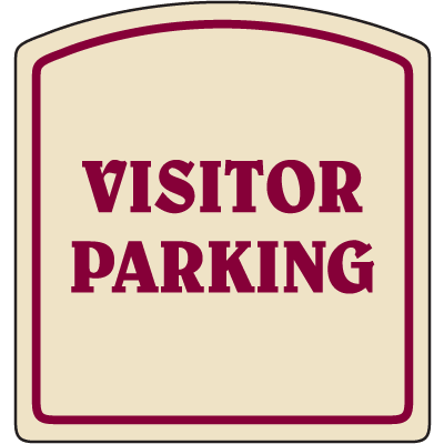 Designer Property Signs - Visitor Parking