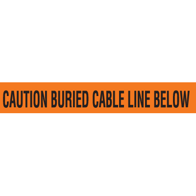 Detectable Underground Warning Tape - Caution Buried Cable Line Below