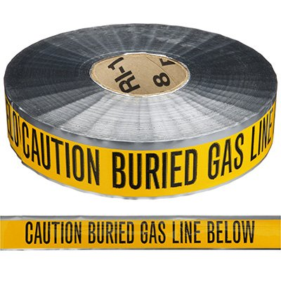 Detectable Underground Warning Tape - Caution Buried Gas Line Below