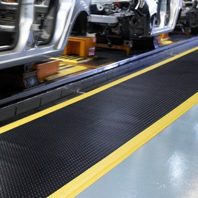 Diamond-Plate SpongeCote® Anti-Fatigue Mats