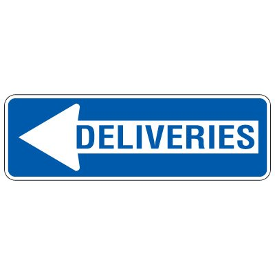 Directional Arrow Traffic Signs - Deliveries (Left Arrow)