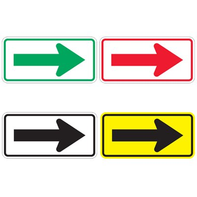 Directional Arrow Traffic Signs - Right Arrow