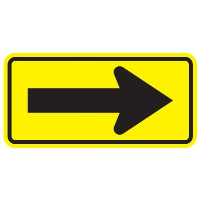 Directional Traffic Signs - Arrow (Black/Yellow)