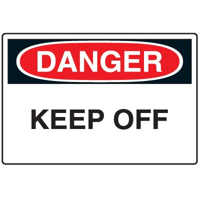 Disposable Plastic Corrugated Signs - Danger Keep Off