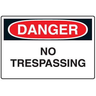 Disposable Plastic Corrugated Signs - Danger No Trespassing