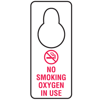 Door Knob Hangers- No Smoking Oxygen In Use