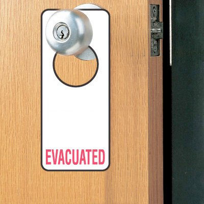 Door Knob Hangers- Evacuated
