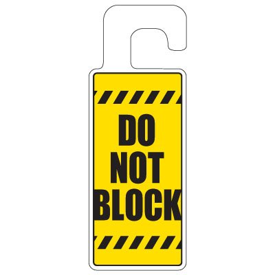 Door Knob Hangers - Do Not Block