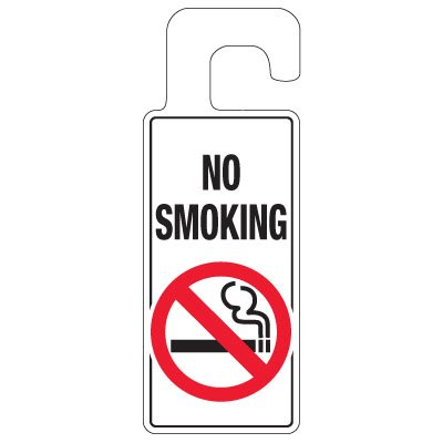 Door Knob Hangers - No Smoking
