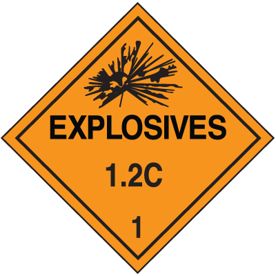 1.2C DOT Explosive Placards