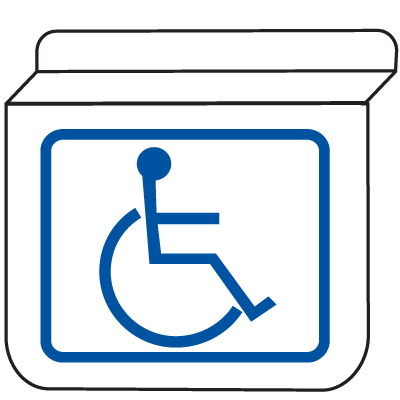 Handicapped Accessible Signs - Drop Ceiling Double-Sided