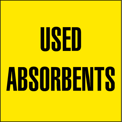 Drum Identification Labels - Used Absorbents