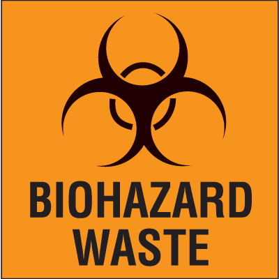Drum Identification Labels - Biohazard Waste