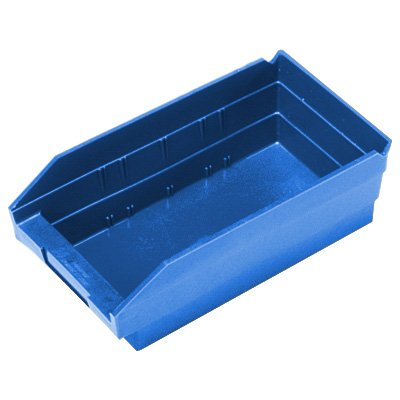 "Durable Plastic Shelf Bins 11-5/8""L x 4-1/8""W x 4""H"