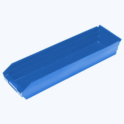 "Durable Plastic Shelf Bins 11-5/8""L x 11-1/8""W x 4""H"