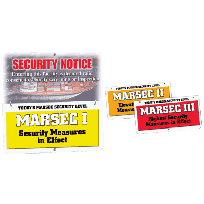 Easy Flip Security Signs- MARSEC