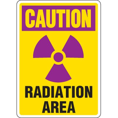 Eco-Friendly Signs - Caution Radiation Area