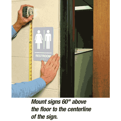 Restroom/Man/Woman - Economy Braille Signs