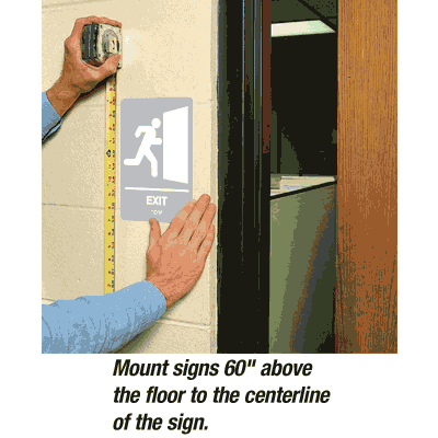 Exit - Economy Braille Signs