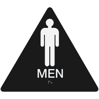 California Code ADA Men Rest Room Sign - Black