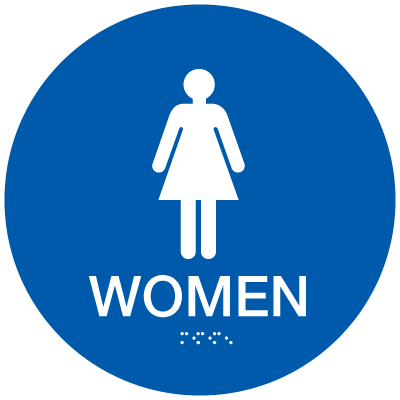 California Code ADA Women Rest Room Sign - Blue