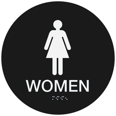 California Code ADA Women Rest Room Sign - Black
