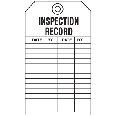 Economy Equipment Inspection Tags - Inspection