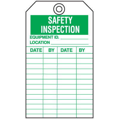 Economy Equipment Inspection Tags - Safety