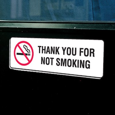 Plastic Thank You For Not Smoking Signs