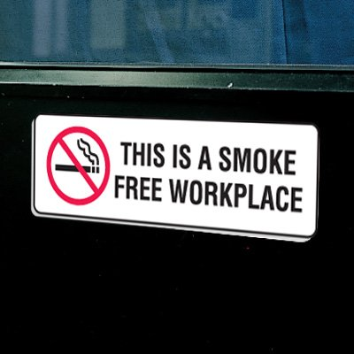 """Plastic This Is A Smoke Free Workplace Signs - 9""""W x 3""""H"""