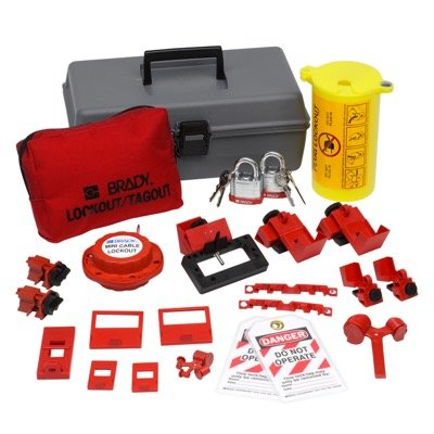 Brady Electrical Lockout Toolbox Kit With Brady Steel Padlocks & Tags - Part Number - 99313 - 1/Each