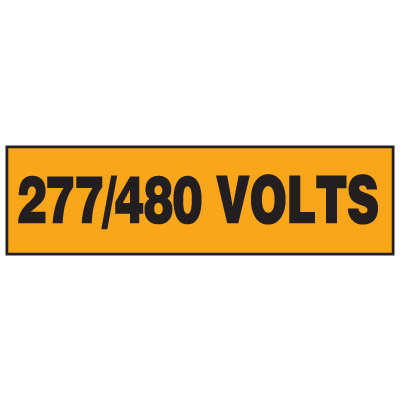 Electrical Marker Packs - 277/480 Volts