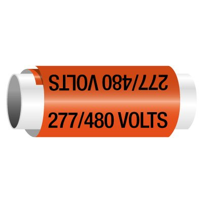 277/480 Volts - Snap-Around Electrical Markers