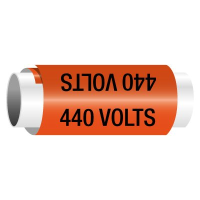 440 Volts - Snap-Around Electrical Markers