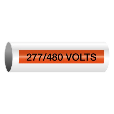 277/480 Volts - Self-Adhesive Electrical Markers