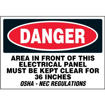 Electrical Safety Labels On-A-Roll - Danger Electrical Panel