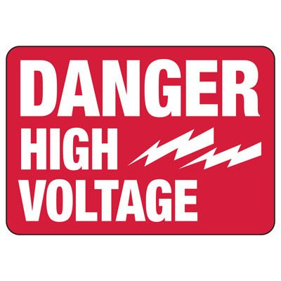 Danger High Voltage - Electrical Safety Signs