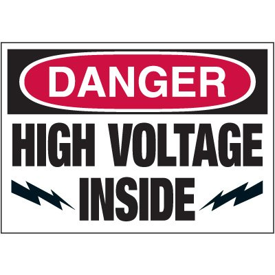 Electrical Warning Labels - Danger High Voltage Inside