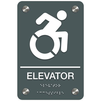 Elevator (Dynamic Accessibility) - Premium ADA Facility Signs
