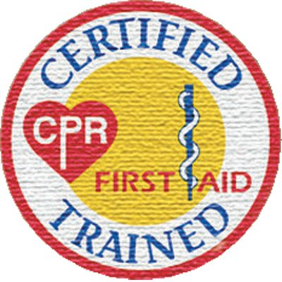 Certified CPR Trained Emboidered Patch