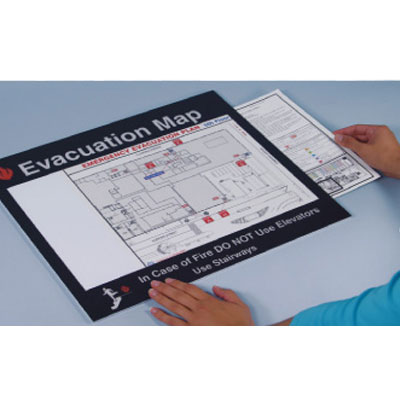Emergency Evacuation Insert Frames- Evacuation Map