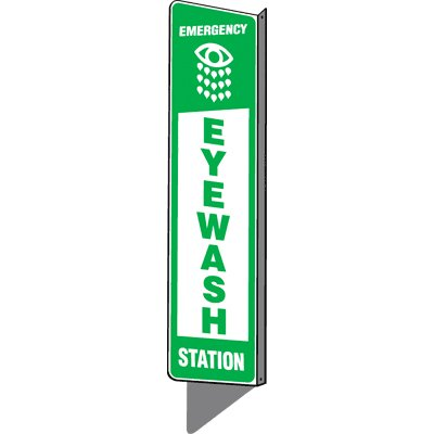Emergency Eyewash Station - 2-Way Sign