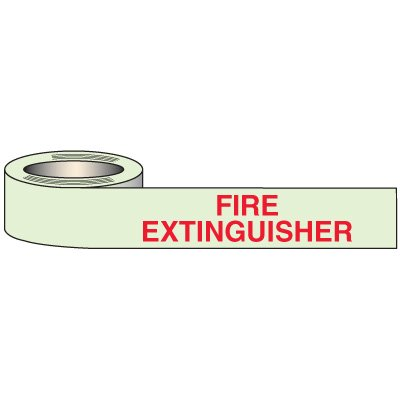 Glow In Dark Fire Extinguisher Tape