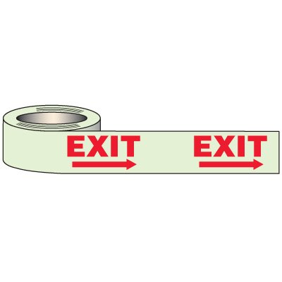 Glow In Dark Exit Tape