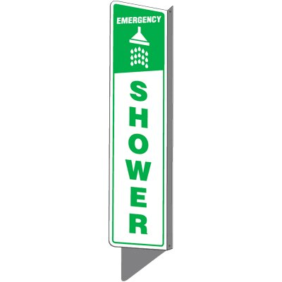 Emergency Shower - 2-Way Sign