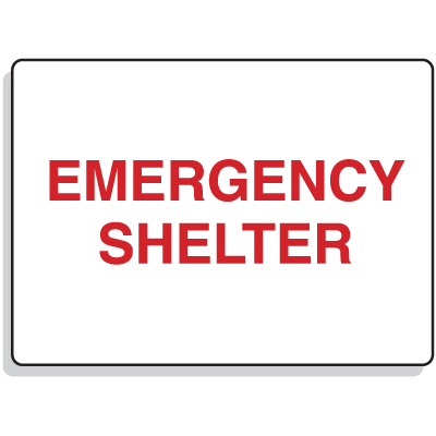 Emergency Signs- Emergency Shelter