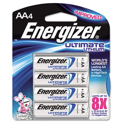 Energizer® Ultimate Lithium Batteries EVEL91BP4