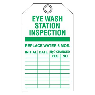 Equipment Inspection Ultra-Tags - Eyewash Station